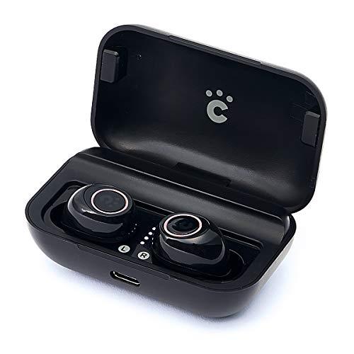 ワイヤレスイヤホン cheero Wireless Earphones Bluetooth 5.0 自動ペアリング 高音質 防水 IPX5 完全ワイヤレス 充電機能付イヤホンケース付属 マイク付 ハンズフリー 左右独立型 軽量 iPhone Android 対応 日本チューニング タイムドメインラボ CHE-624
