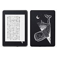 igsticker kindle paperwhite 第4世代 専用スキンシール キンドル ペーパーホワイト タブレット 電子書籍 裏表2枚セット カバー 保護 フィルム ステッカー 015885 くじら 夜 月