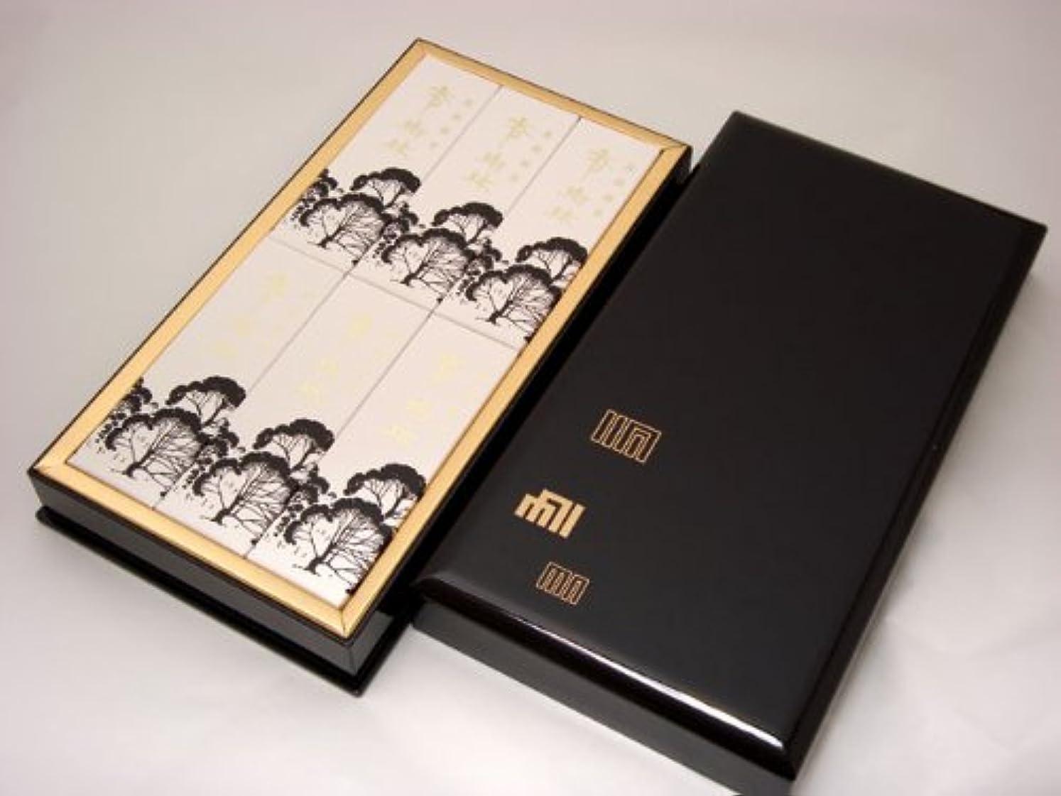 進物用線香 【香樹林(こうじゅりん)】 平型樹脂塗箱入