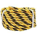 標識ロープ平巻 9mm×10m    黄色と黒で目立つ色のロープです