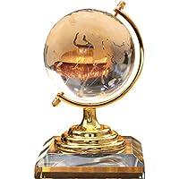 HJBHクリスタルガラスクリエイティブグローブホームデコレーションノルディックワインキャビネット研究書棚デコレーションデスク装飾工芸ギフトサイズ:14.5 * 9CMカラー:ゴールド