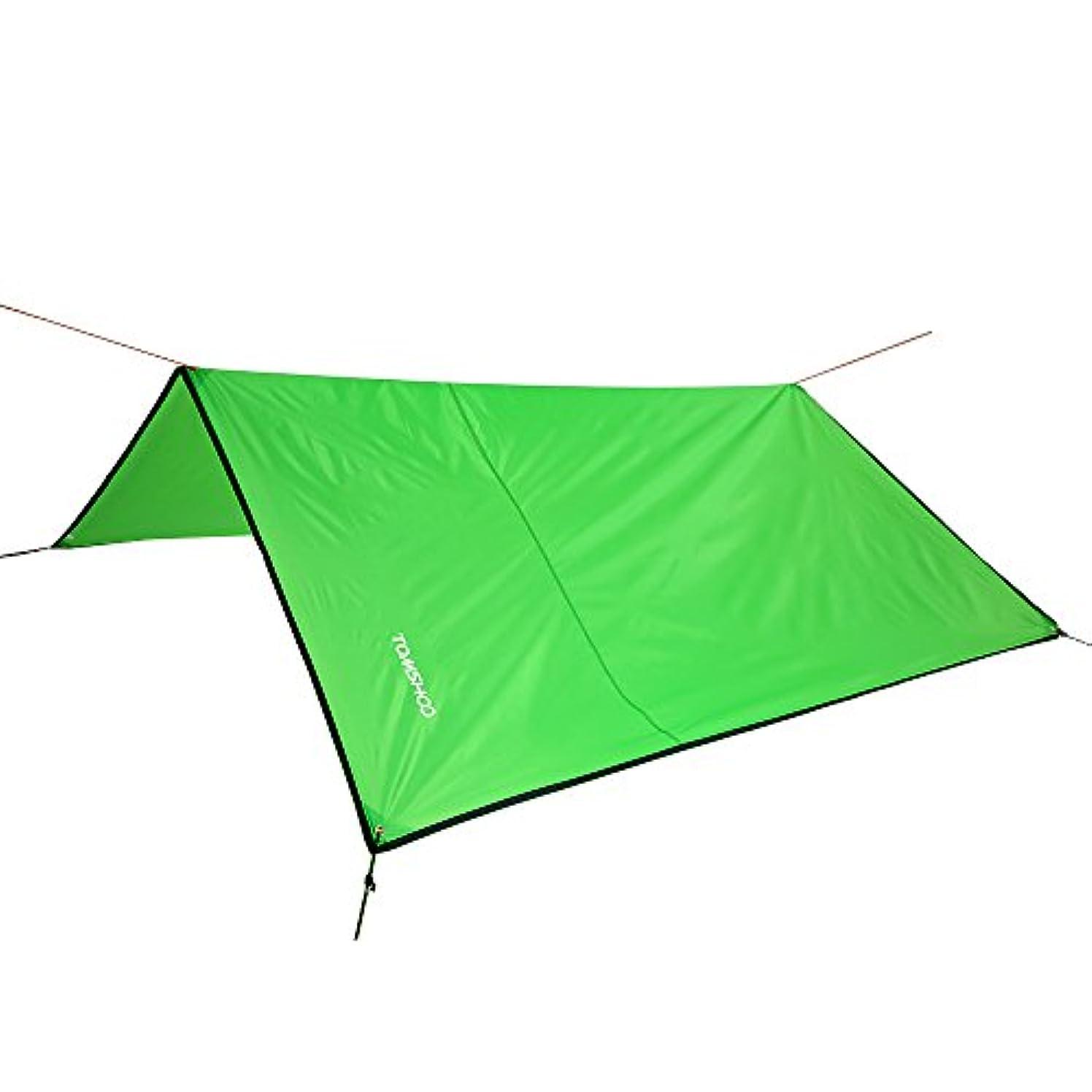 用語集速報吹きさらしTOMSHOO テント タープ マット オーニング 天幕 超軽量 防水 日よけ アウトドア キャンプ ハイキング ピクニック 多機能 多用途 収納バッグ付き 4色 3サイズ