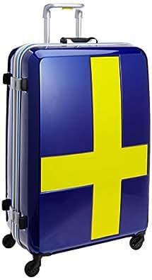 [イノベーター] スーツケース フレーム INV68T 消音/静音キャスター カードロック 保証付 90L 76 cm 4.8kg ブルーxイエロー