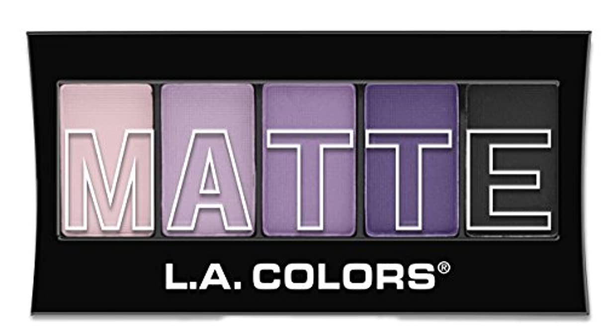 安全性包帯木L.A. Colors Matte Eyeshadow - Purple Cashmere (並行輸入品)
