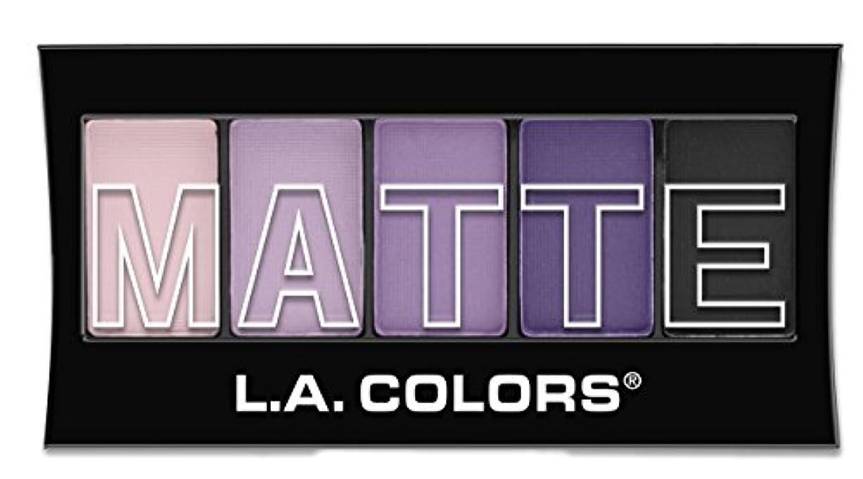 コントラスト建てる進むL.A. Colors Matte Eyeshadow - Purple Cashmere (並行輸入品)