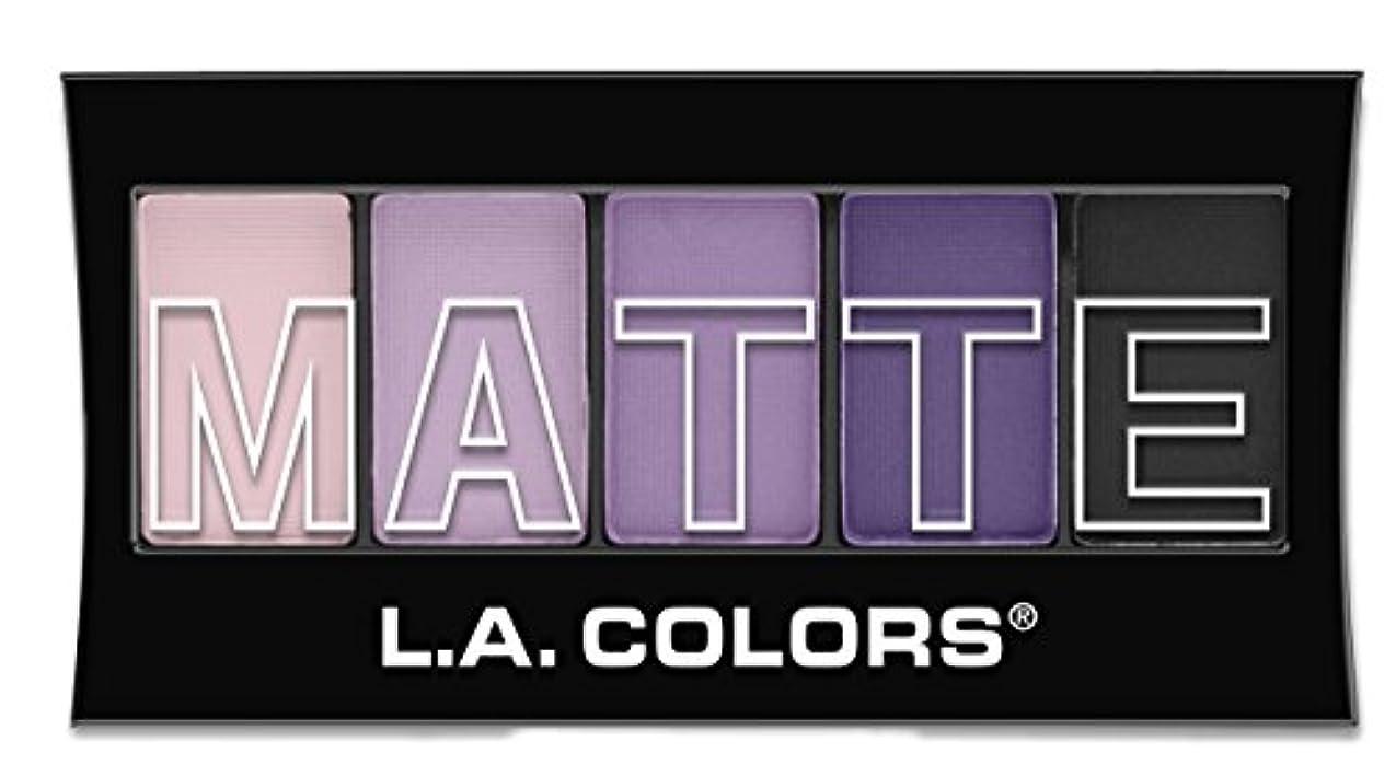 農奴現実には膜L.A. Colors Matte Eyeshadow - Purple Cashmere (並行輸入品)