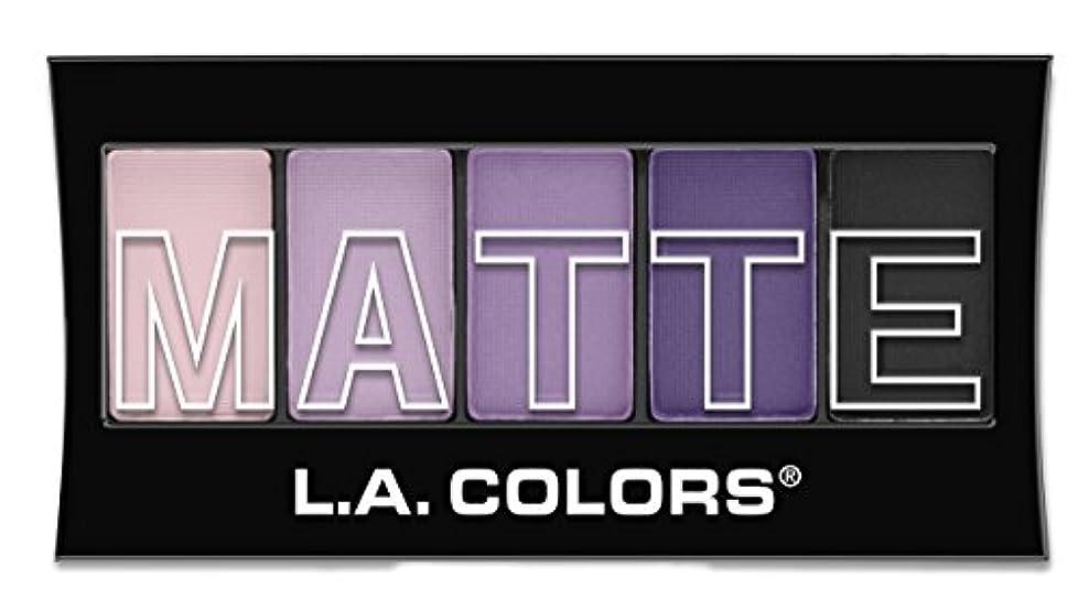 乱雑なうまくいけば部分的にL.A. Colors Matte Eyeshadow - Purple Cashmere (並行輸入品)