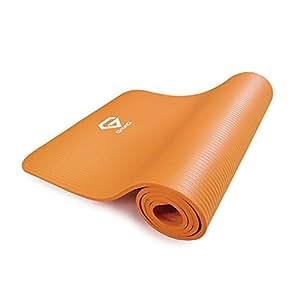 GronG(グロング) ヨガマット トレーニングマット エクササイズマット ヨガマットケース 10mm オレンジ