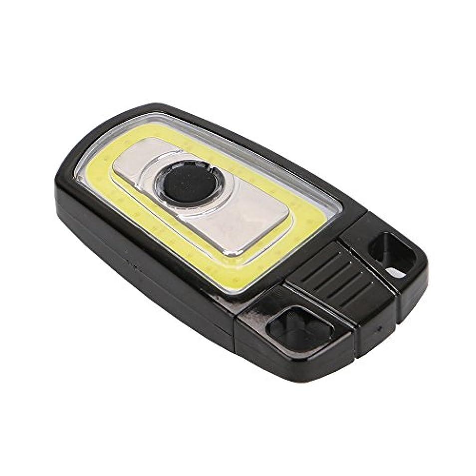 出発普通にフリルキーチェーンCOB LED懐中電灯USB充電式ミニトーチ車のキーデザイン