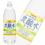 サンガリア 伊賀の天然水炭酸水レモン PET1L〔1000ml〕×12本入 【×2ケース:合計24本】