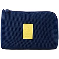 Elenxs Large Capacity Cosmetic Bag Simple Solid Color Pack Zipper Make Up Pocket Toiletry Storage Travel Wash Pouch