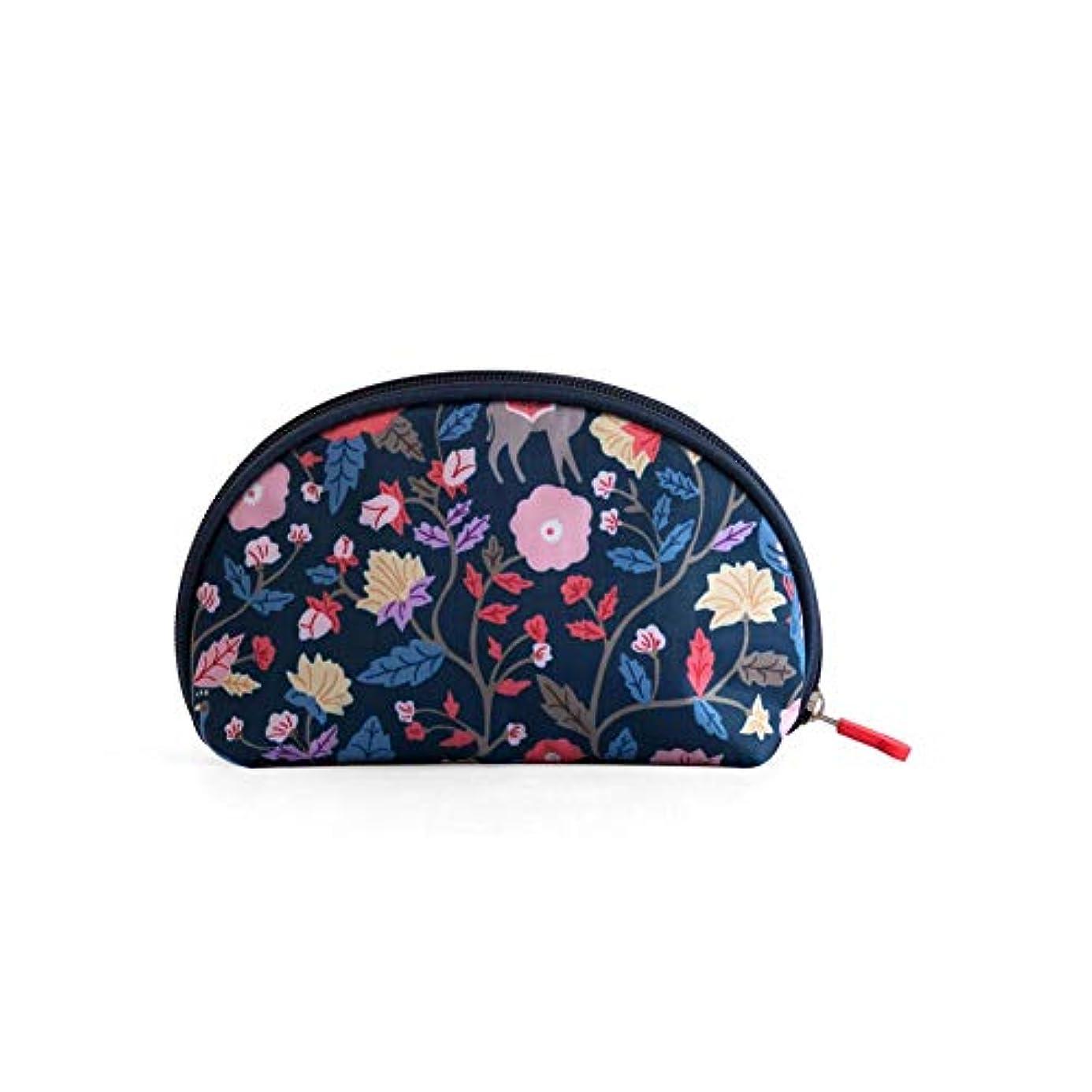 シプリー反対怠なKARRESLY 化粧ポーチ 持ち運びに便利 軽量 防水 メイクボックス 機能的 コスメポーチ 小さめ コンパクト 小物入れ 旅行 トラベル お花見 ブルー