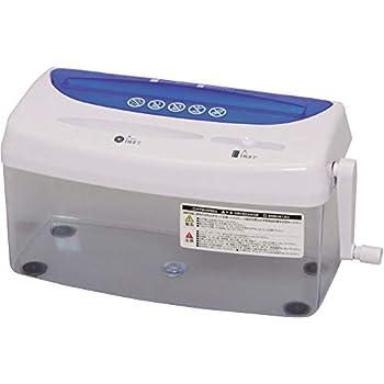 アイリスオーヤマ 卓上 シュレッダー CD DVD カード細断対応ハンドシュレッダー クロスカット H1ME ブルー/ホワイト