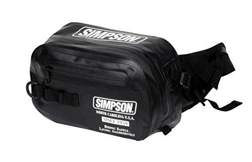 シンプソン(SIMPSON) バイク用バッグ Water Proof Waist Bag(ウォータープルーフウエストバッグ) ブラック/ホワイト フリーサイズ SB-319