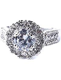 PINKING 指輪 レディース リング 結婚指輪 キラキラ ラインストーン アクセサリー 記念日 誕生日 母親の日 プレゼント