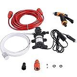 洗車ポンプ高圧洗浄機ガン12ボルトポータブルクリーニングキット多機能無毒環境保護ソフト耐腐食性オレンジ