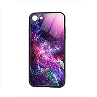 銀河 IPhone8 ケース / IPhone7 ケース 対応 スマホケース 背面ガラス 耐衝撃 すり傷防止 指紋防止 全面保護 携帯カバー アイフォン7/8ケース