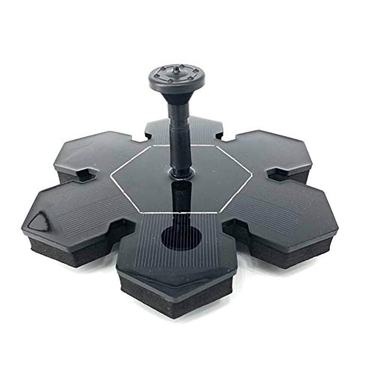 マニフェストイライラするシャンプーガーデン用噴水 屋外アイスフラワーソーラー噴水水上噴水ポンプの池またはガーデンデコレーションプールブラックを形 ソーラーミニ噴水 (Color : Black, Size : M)