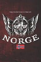 Wikstroem - Notes: Norwegen Wikinger Kopf Helm Norge Flagge used look - Notizbuch 15,24 x 22,86 unliniert