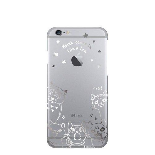 3月のライオン 川本家のニャーたちのスマホケース シルバー iPhone iPhone 7