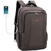 Uoobag Business Laptop Backpack Slim Anti Theft Travel Computer Backpacks Environmentally Waterproof Laptops Bag for Men/Women 15.6Inch Black