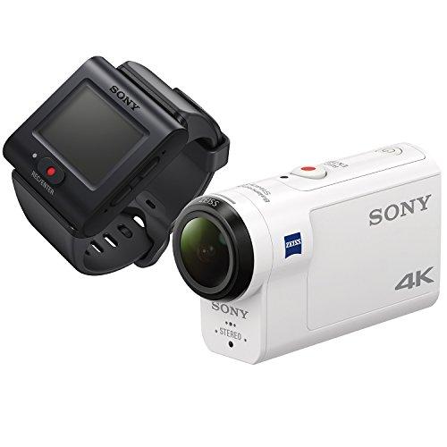 ソニー SONY ウエアラブルカメラ アクションカム 4K+空間光学ブレ補正搭載モデル(FDR-X3000R) ライブビュー...
