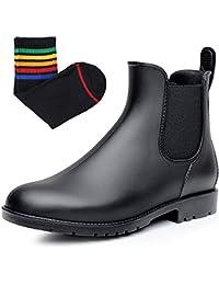 [Smiry] レディース&メンズ レインブーツ 快適 防水 雨靴 滑り止め 軽量 梅雨対策(22.0cm~26.5cm)