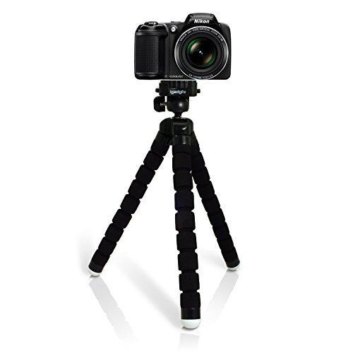 iGadgitz Large Universal Flexible Foam Mini Tripod for Nikon D Series SLR DSLR Cameras DSLR D1 D100 D1H D1X, D200 D2H D2HS D2X D2XS, D3 D300 D3000 D300S D3100 D3200 D3300 D3S [並行輸入品]