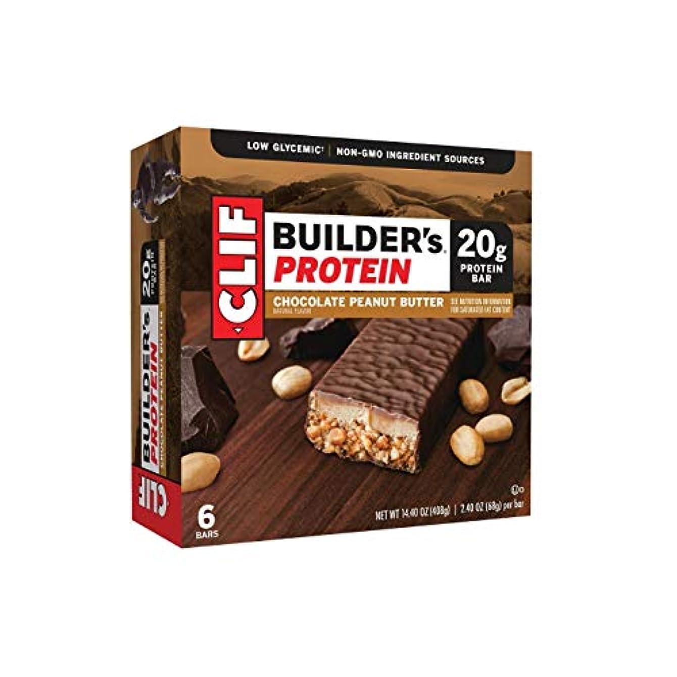 下膨らみ気絶させるClif Builders,20g Protein Bar Chocolate Peanut Butter,6 Bars by Clif Bar
