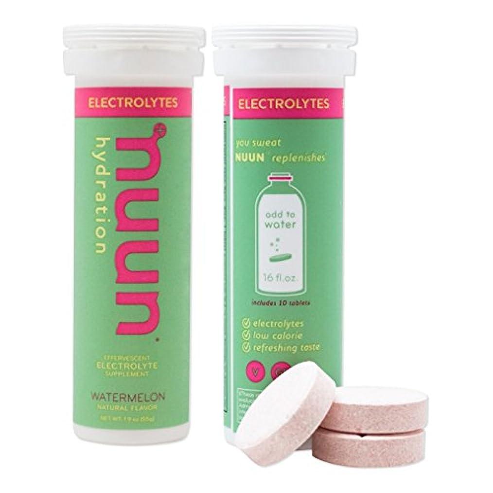 どちらもどちらもオーガニックNuun Active Hydration Electrolyte Enhanced Drink Tabs watermelon ヌンアクティブハイドレーショントスイカ水分補給スポーツドリンク 54g(合計10錠) [並行輸入品]