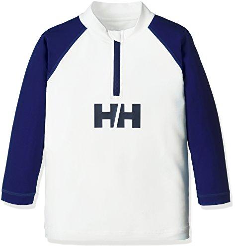 (ヘリーハンセン)HELLYHANSENキッズロングスリーブハーフジップラッシュガードHJ81703WBホワイト×ブルーベリー120