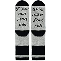 Novelty Funny Saying Crew Socks, If You Can Read This Beer Wine Coffee Taco Rub Socks for Men Women
