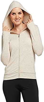 Solbari UPF 50+ Women's Sun Protection Luxe Hooded Top Full Zip - UV Protection, Sun Protec