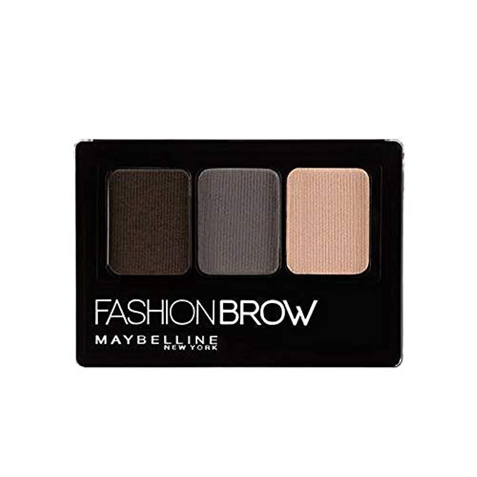ルーチン誰の半ばメイベリン ファッションブロウ パレット BR-1 自然な濃茶色