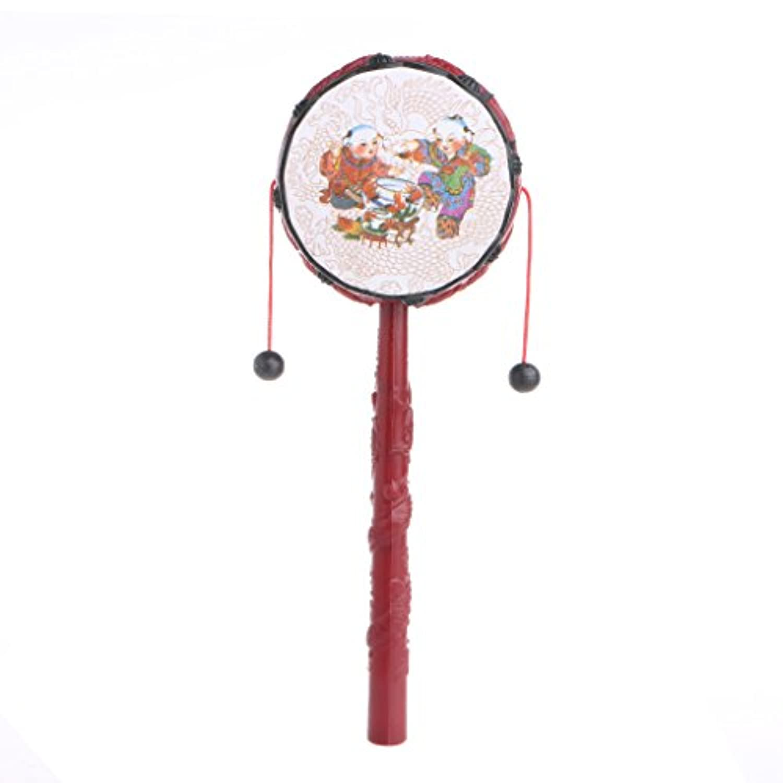 Misright ラトル ドラム ハンドベル 振る舞い 乳児 中国人 パーカッション 子供 音楽玩具 赤ちゃん 手作り