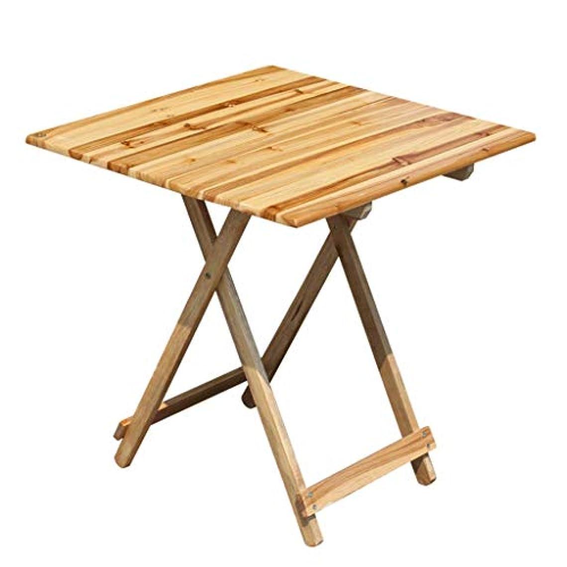 滴下動員する配分FRF 折りたたみ式テーブル- 折りたたみ式ポータブルスクエアテーブルソリッドウッドダイニングテーブル、屋外ストールテーブルバーベキューテーブル (色 : オークカラー, サイズ さいず : 57.5x57.5x54cm)