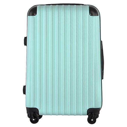 【レセナ】RESENA スーツケース 超軽量 キャリーケース ファスナー ABS 静音キャスター おしゃれ かわいい 旅行 出張 … (S サイズ_ダイヤルロック, グリーン)