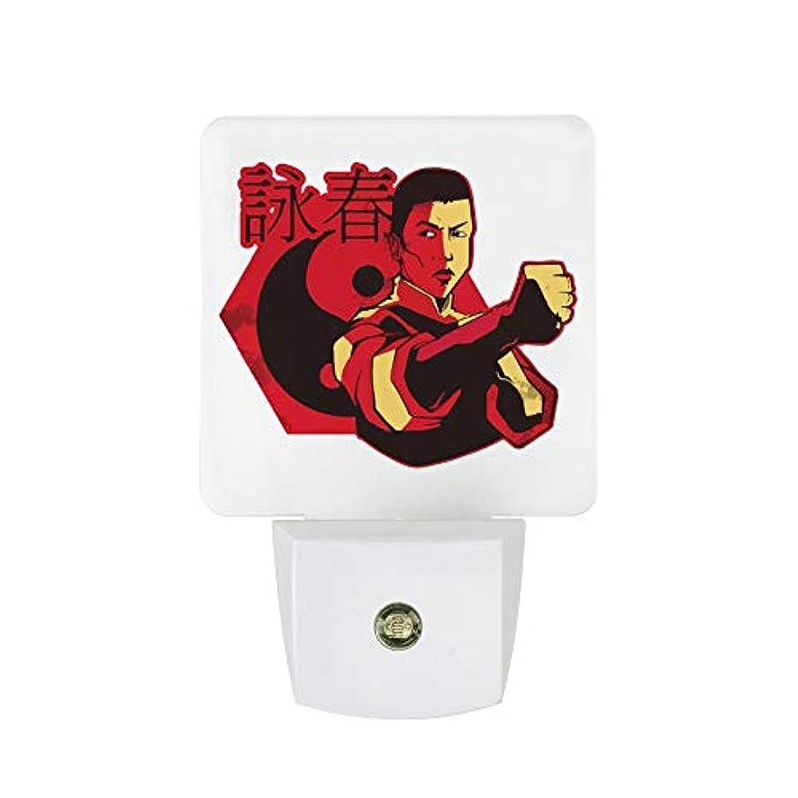 増幅する相手性能フットライト 常夜灯 足元灯 LEDライト Wing Chun 詠春拳 センサーナイトライト センサーライト 明暗センサー ベッドサイドランプ コンセント ナイトライト 省エネ 夜間ライト 補助灯 キッチン 授乳ライト 客間 1個セット