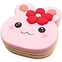 面白いSquishyおもちゃ、Miklan可愛いウサギケーキおもちゃゴムの応力Relieve Slow Rising 15x14x4 MK