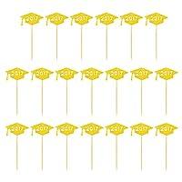 Lovoski 全5種類 20個セット カップケーキピック ケーキトッパー キラキラ ゴールド - タイプ1