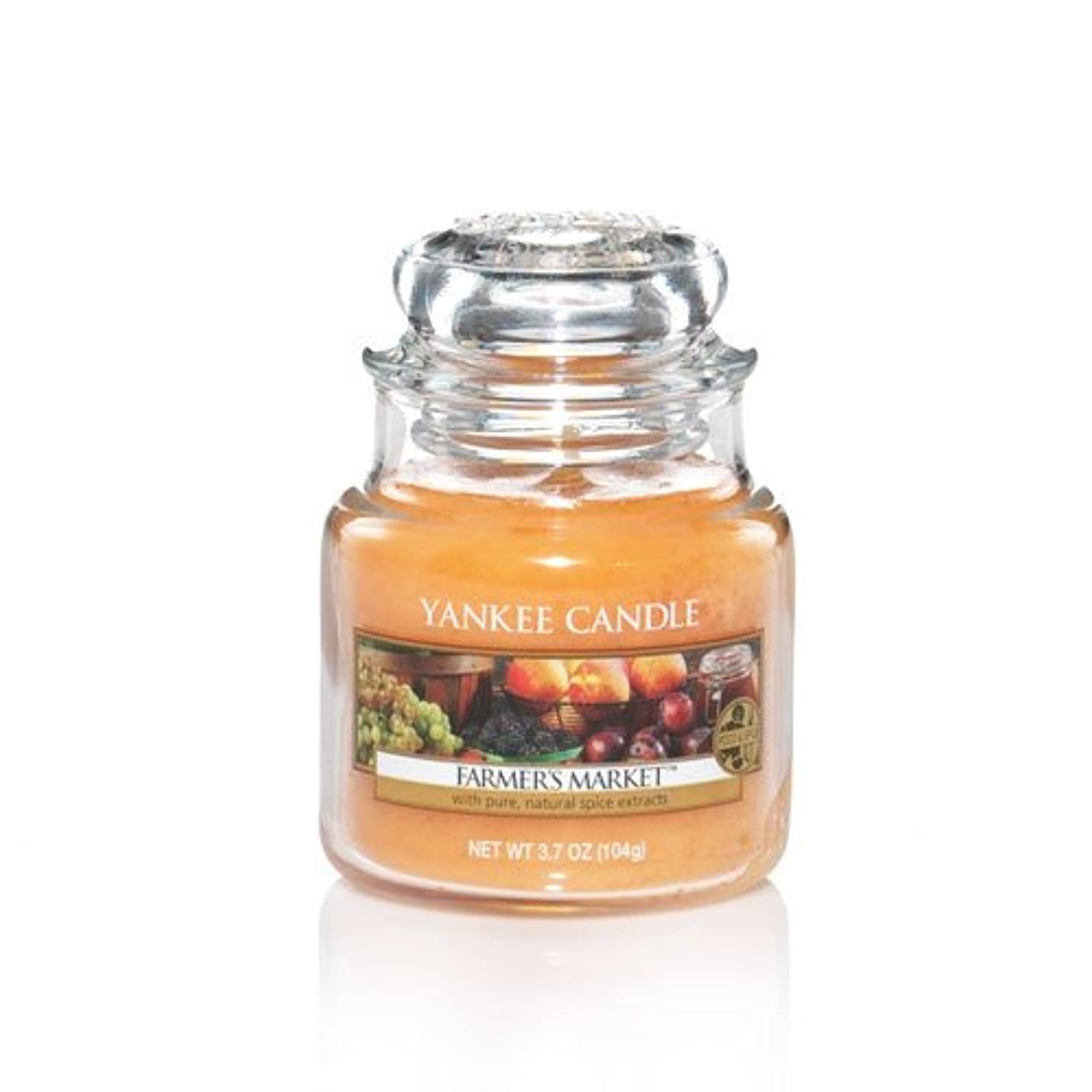 充電エスカレーター群衆Yankee Candle Farmer 's Market Small Jar Candle, Food & Spice香り