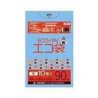 サンキョウプラテック エコ袋 90L 0.050厚 青 10枚入×25冊 LN-96