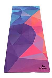 Ln Yoga ヨガマット 厚さ 3.5mm マイクロファイバータオルマット キャリーストラップ付