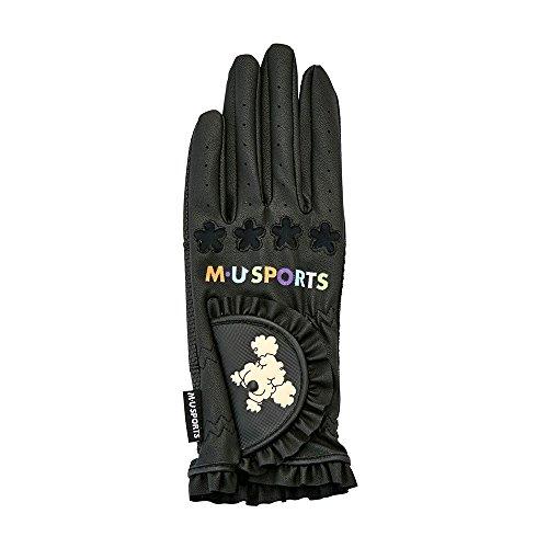 [해외] MU SPORTS(엠유스포츠) 골프 글러브 703V6800 프릴SHUSHU글러브(손끝 있음/한쪽 손)M(19-20CM)블랙 레이디스 703V6800 블랙-703V6800