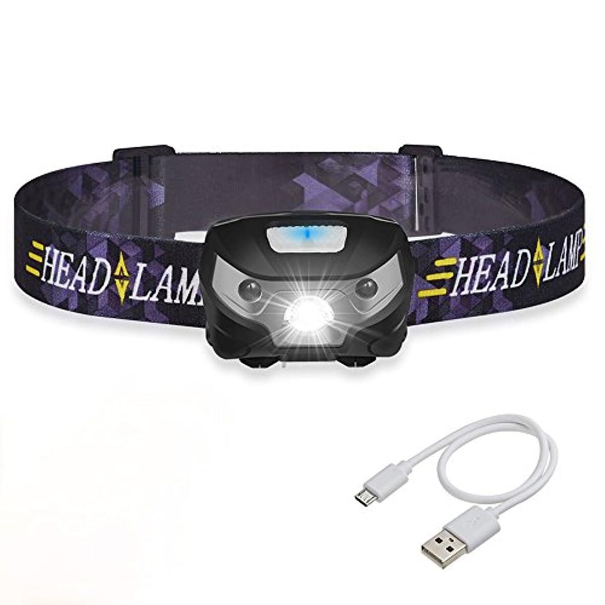 短命私たちのもの贈り物XIAOBUDIAN 3000LMミニ充電式LEDヘッドランプボディモーションセンサーLED自転車ヘッドライトランプ屋外キャンプの懐中電灯USB