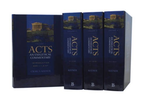 Download Acts: An Exegetical Commentary (4 Vol Set) 0801039894
