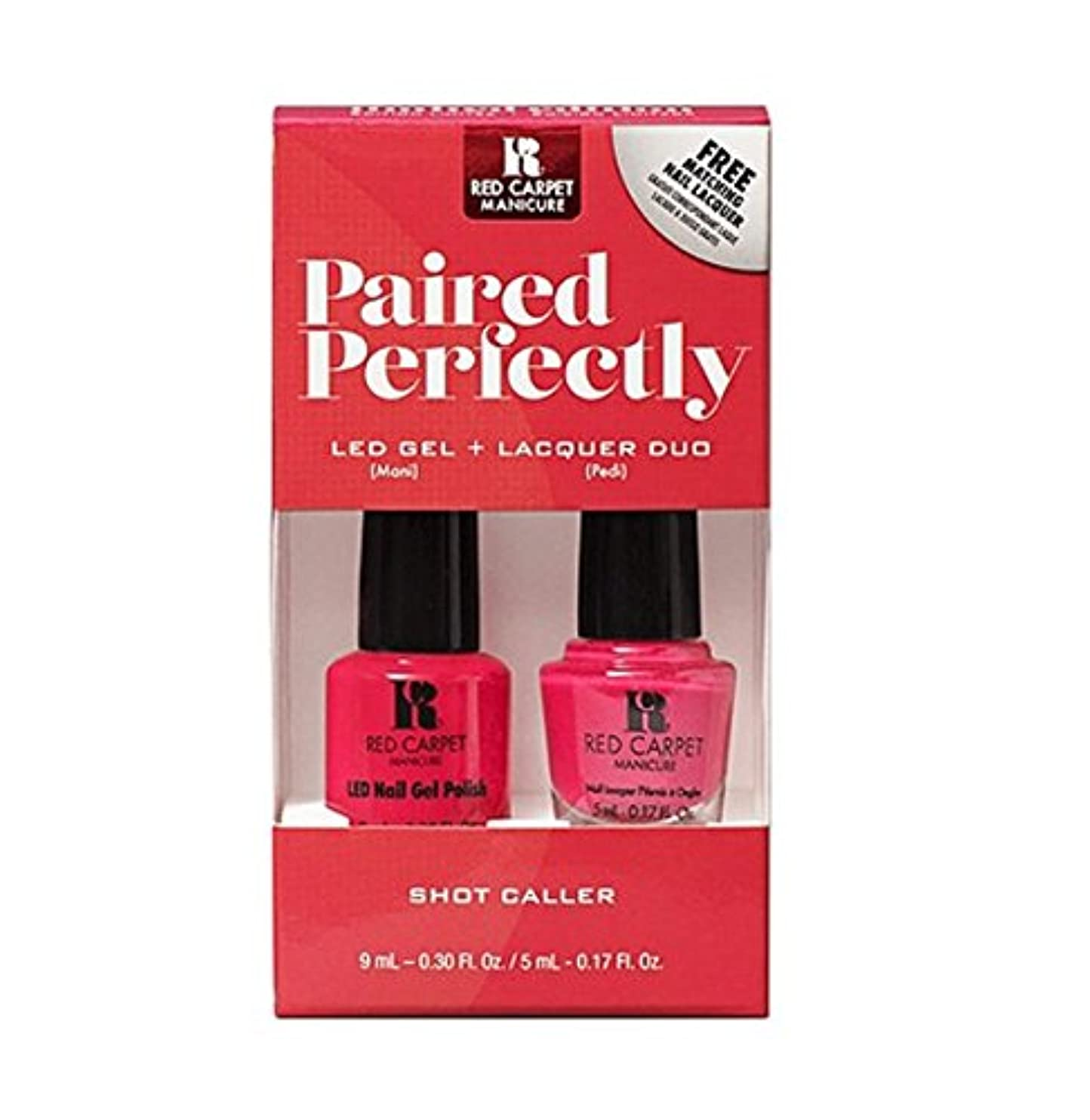自伝レンチファウルRed Carpet Manicure - Paired Perfectly GEL & Lacquer DUO - Shot Caller
