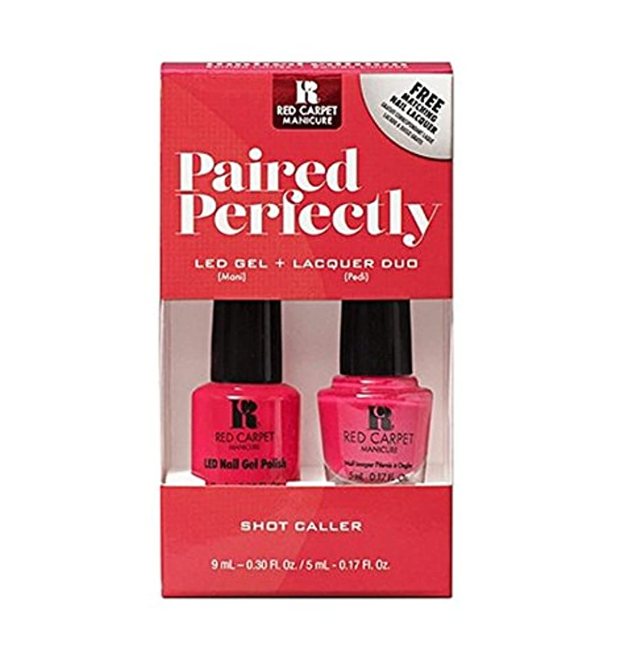 複製するファンタジー悪いRed Carpet Manicure - Paired Perfectly GEL & Lacquer DUO - Shot Caller