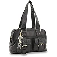 Catwalk Collection Handbags - Women's Leather Top Handle/Shoulder Bag - CAROLINE