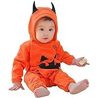【simprettycos】 ハロウィンコスプレ ベビー・赤ちゃん・子供用 パンプキン デビル カバーオール パーティー用仮装に最適 かわいいかぼちゃの悪魔衣装 着ぐるみ 80cm lb100003a02n0